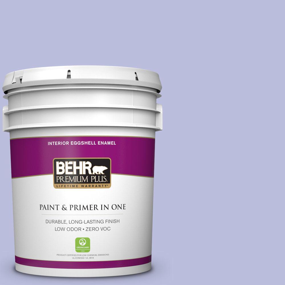 BEHR Premium Plus 5-gal. #620A-3 Rhapsody Lilac Zero VOC Eggshell Enamel Interior Paint
