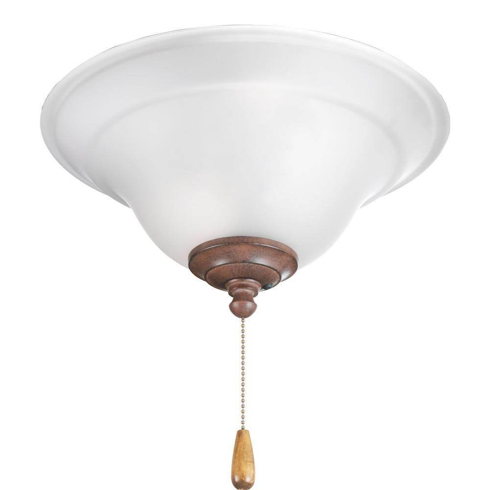 Progress Lighting Trinity Collection 3-Light Cobblestone Ceiling Fan Light-DISCONTINUED
