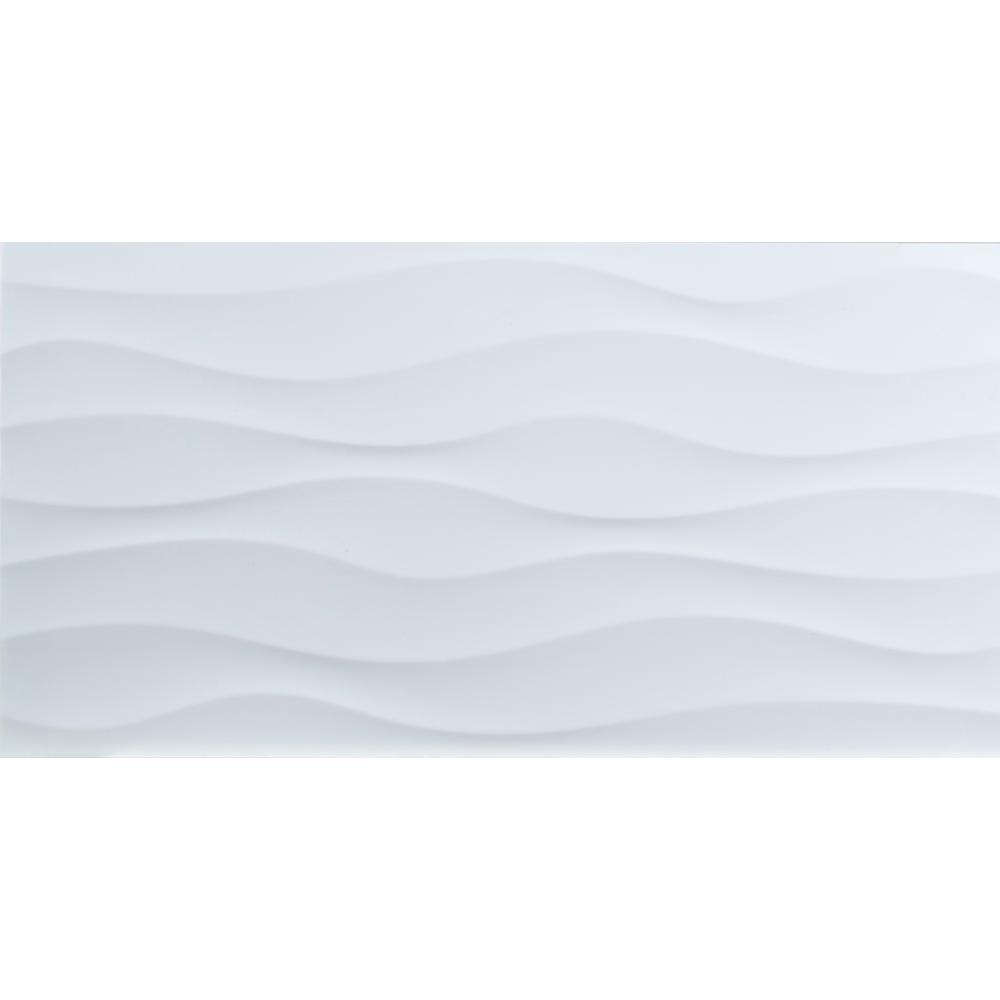 - MSI Dymo Wavy White Glossy 12 In. X 24 In. Glossy Ceramic Wall