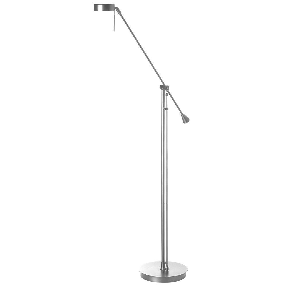 Filament design catherine 54 in halogen satin chrome for Chrome halogen floor lamp