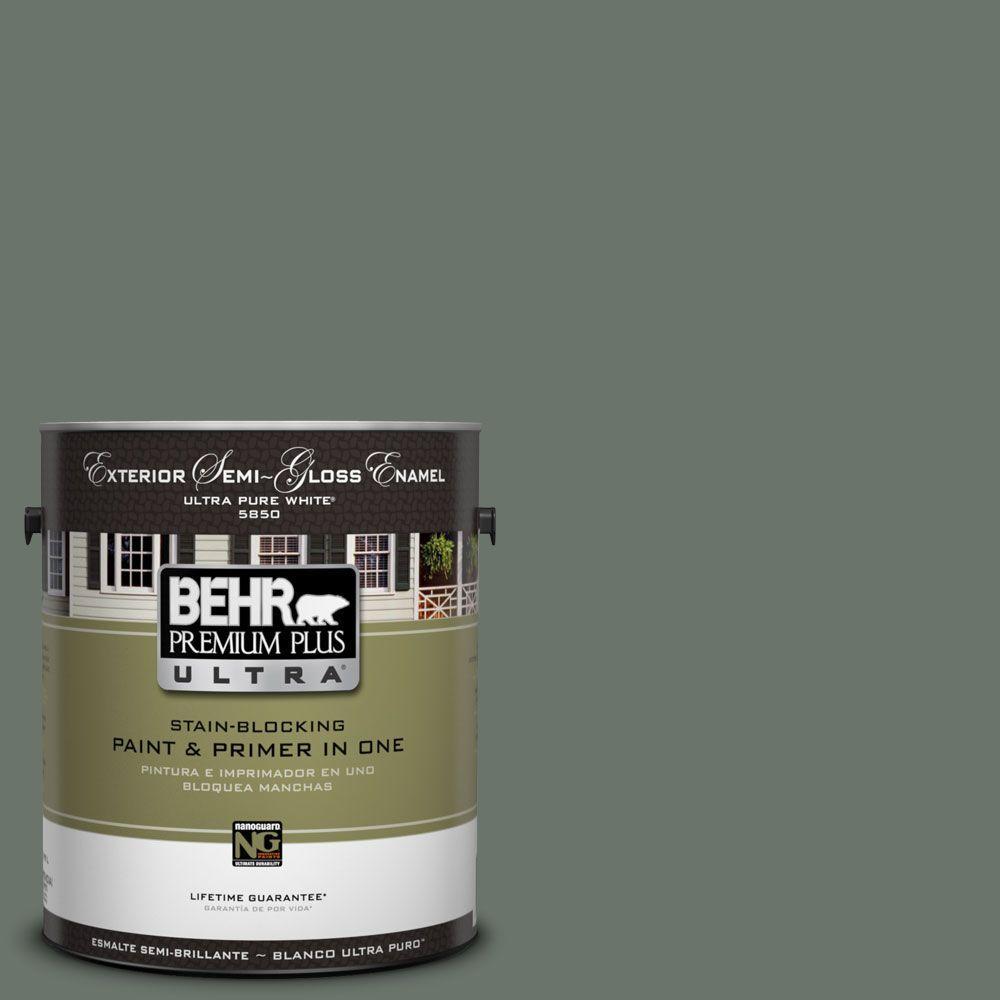 BEHR Premium Plus Ultra 1-Gal. #UL210-3 Heritage Park Semi-Gloss Enamel Exterior Paint