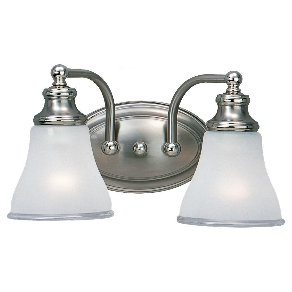 Alexandria 2-Light Two Tone Nickel Vanity Light