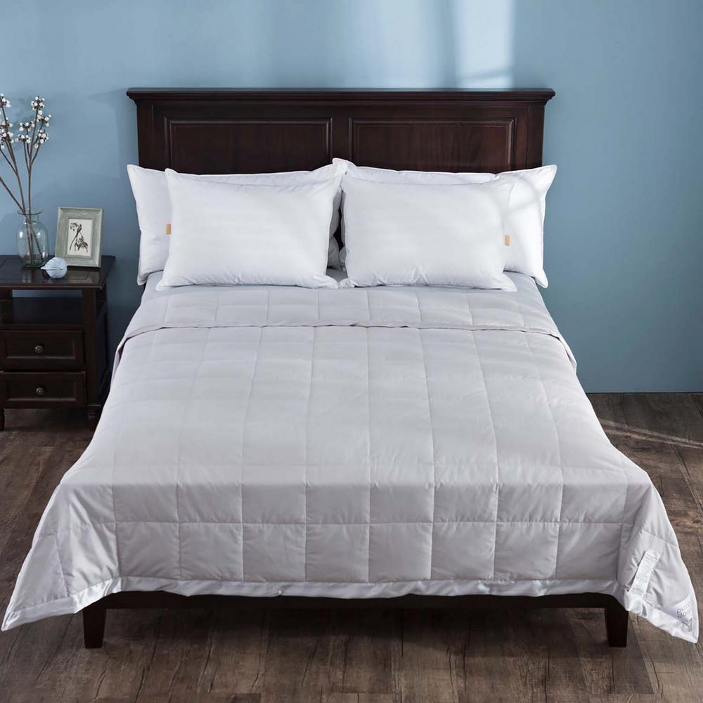 206639e73d Puredown Gray Lightweight Down Blanket With Satin Weave King-PD ...