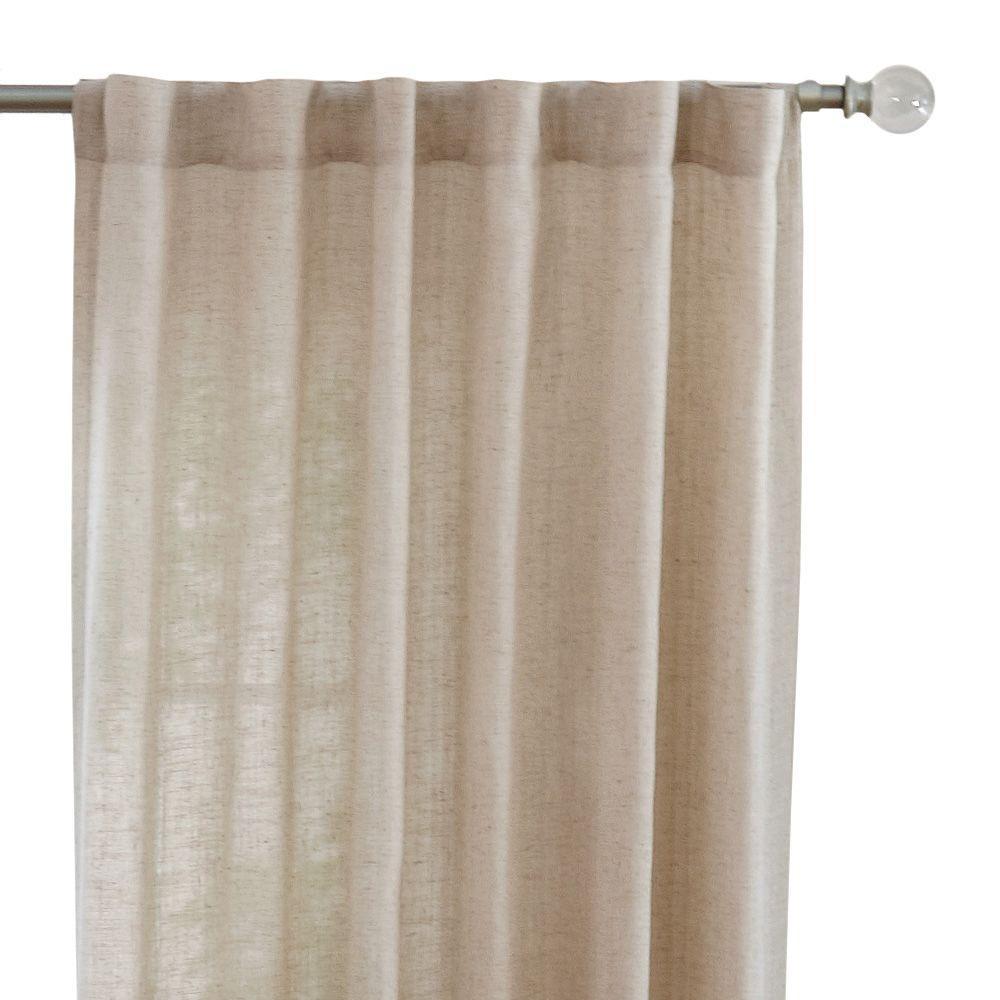 Home Decorators Collection Semi-Opaque Taupe Faux Linen