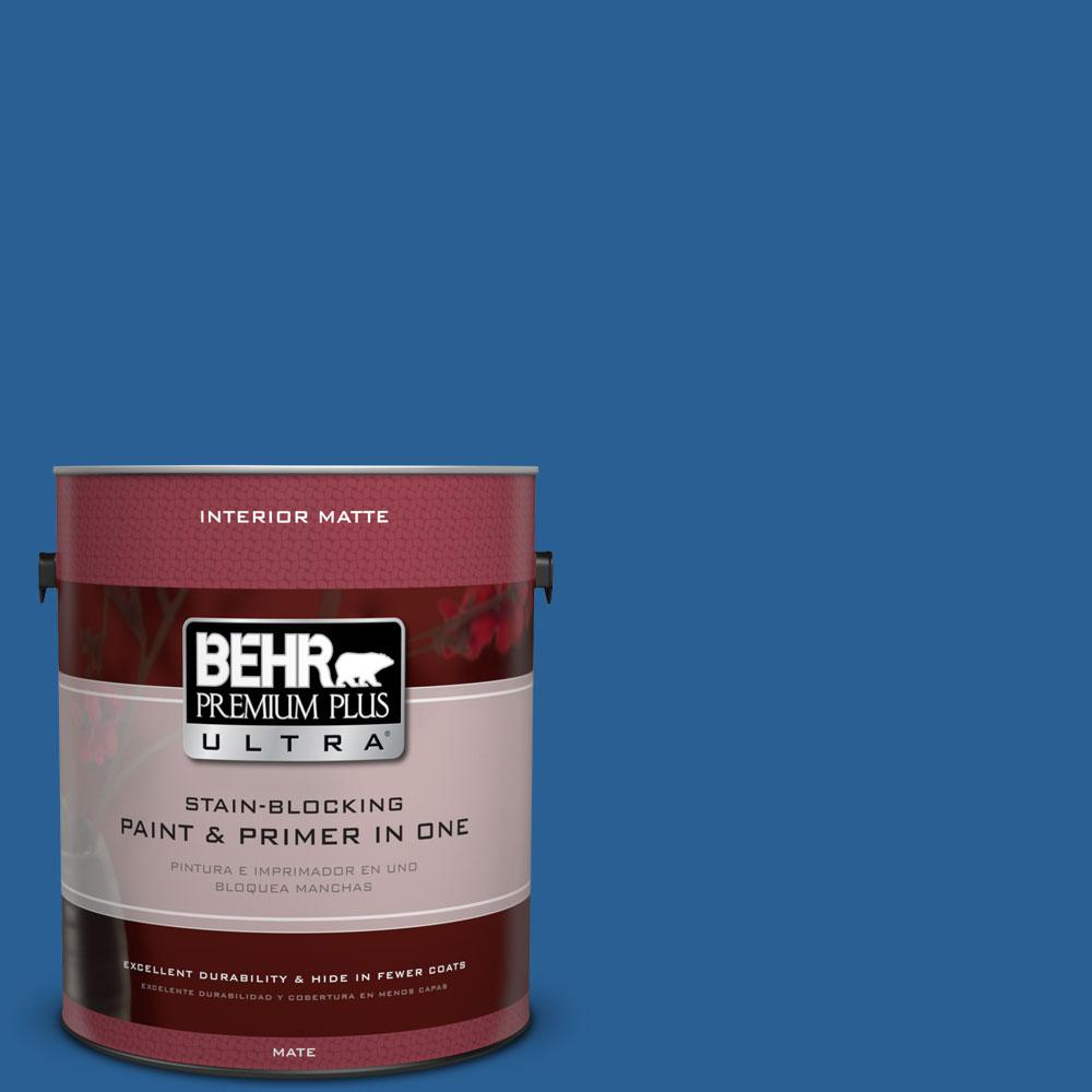 BEHR Premium Plus Ultra 1 gal. #S-G-580 Running Water Flat/Matte Interior Paint