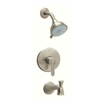 Parkfield 1-Handle 1-Spray Bathtub and Shower Faucet in Brushed Nickel InfinityFinish (Valve Sold Separately)