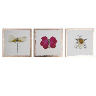 "16 in. x 12 in. ""Beautiful Bugs"" Printed Wall Art"