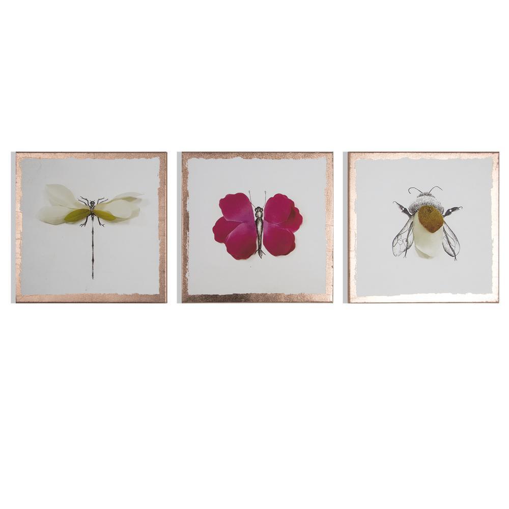 """16 in. x 12 in. """"Beautiful Bugs"""" Printed Wall Art"""