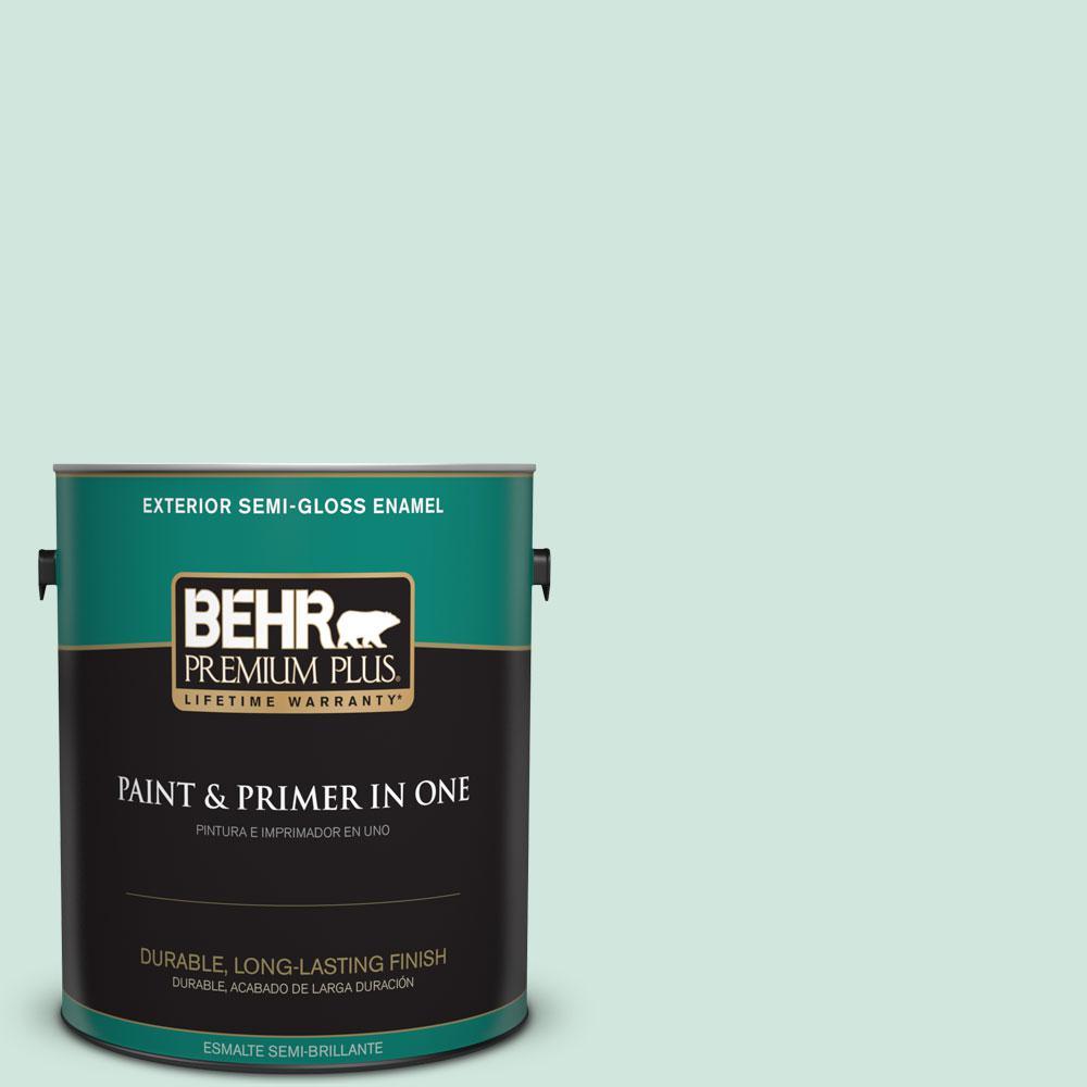 1-gal. #M420-2 Green Aqua Semi-Gloss Enamel Exterior Paint