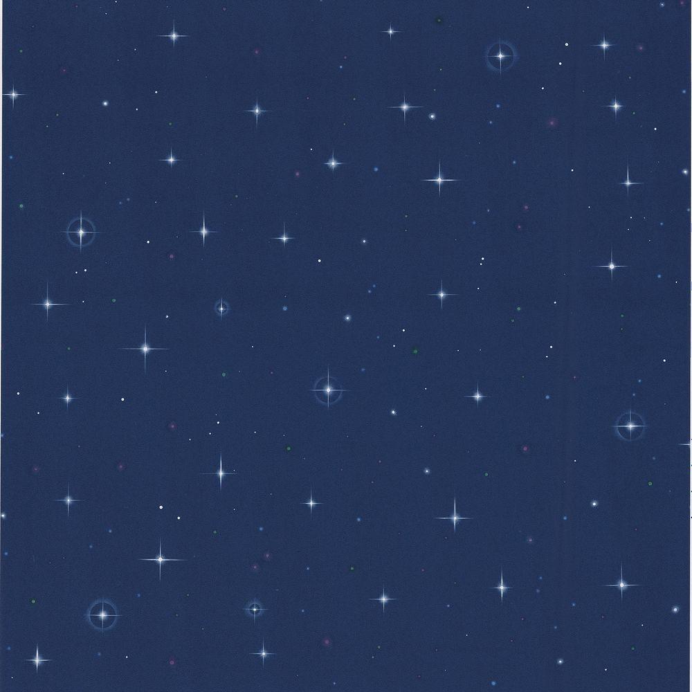 Kids World Navy Blue Starfleet Wallpaper Sample 443-JJ6834SAM