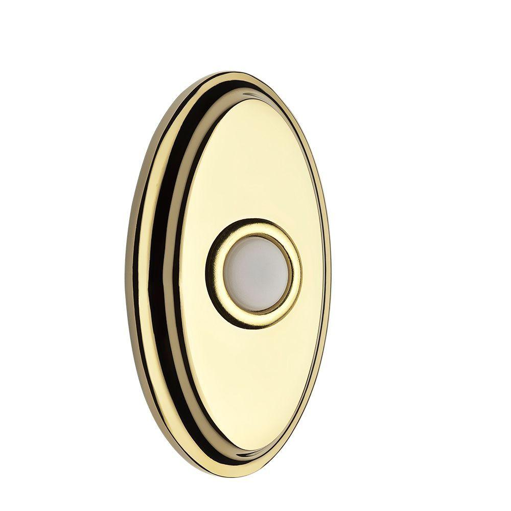 null Wired Oval Bell Button - Polished Brass