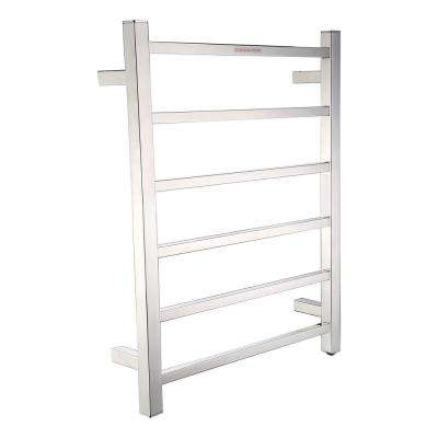 Charles Series 6-Bar Stainless Steel Wall Mounted Electric Towel Warmer Rack in Polished Chrome