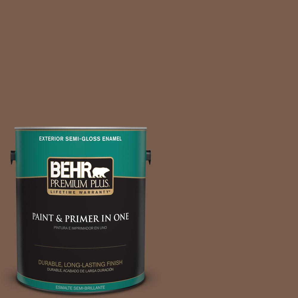 1-gal. #250F-7 Melted Chocolate Semi-Gloss Enamel Exterior Paint