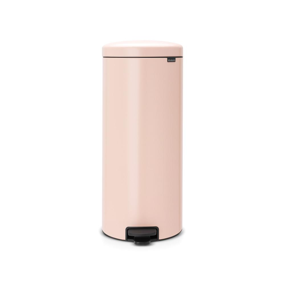 Brabantia 8 Gal. Clay Pink Steel Step-On Trash Can-114328 - The Home ...