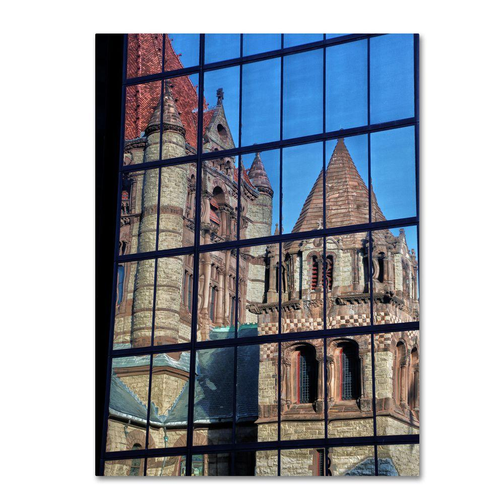 22 in. x 32 in. Trinity Church Reflection Canvas Art