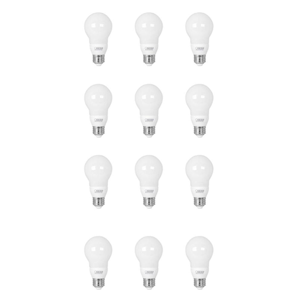 Feit Electric 10-Watt Equivalent A19 Medium E26 Base Color Changing PARTYBULB LED Light Bulb (12-Pack)