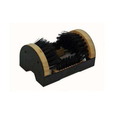 Floor Mount Boot Scrubber Brush with Scrapper