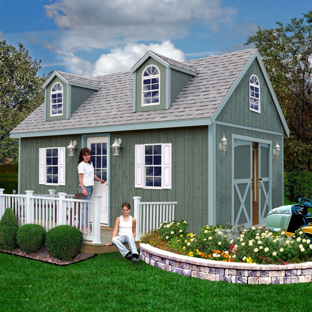 Best Barns Arlington 12 Ft X 16 Ft Wood Storage Shed Kit With Floor Including 4 X 4 Runners