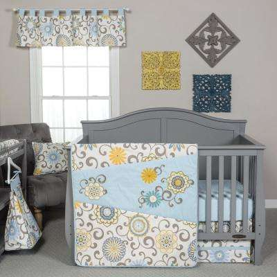 Waverly Pom Pom Spa 4-Piece Crib Bedding Set