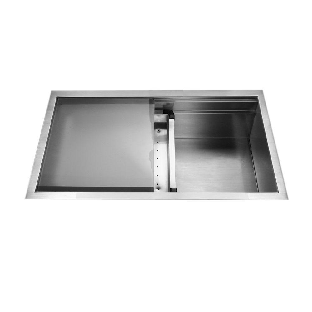 HOUZER Novus Series Undermount Stainless Steel 32 In. Single Basin Kitchen  Sink NVS 5200   The Home Depot