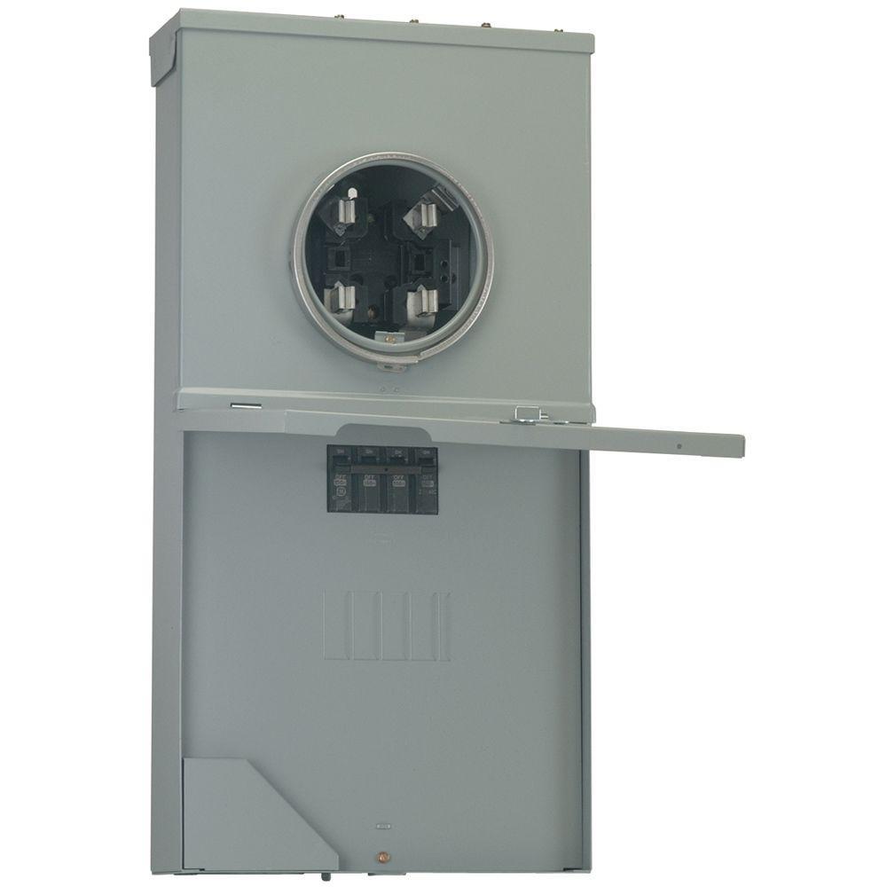 GE PowerMark Gold 200-Amp 4-Space 8-Circuit Outdoor Main Breaker Meter Socket Load Center