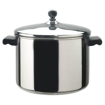 Classic Series 8 qt. Stainless Steel Nonstick Stock Pot with Lid