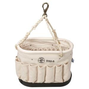 Canvas Bucket, 41-Pocket Oval Bucket with Swivel Snap