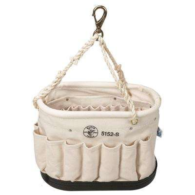 14 in. Canvas Oval Bucket with 41 Pockets