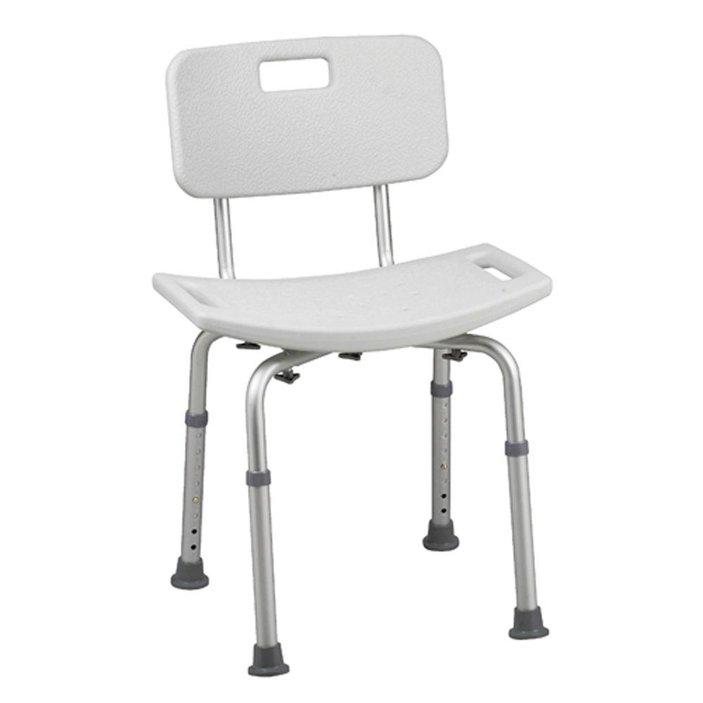 healthsmart bath seat with backrest and bactix