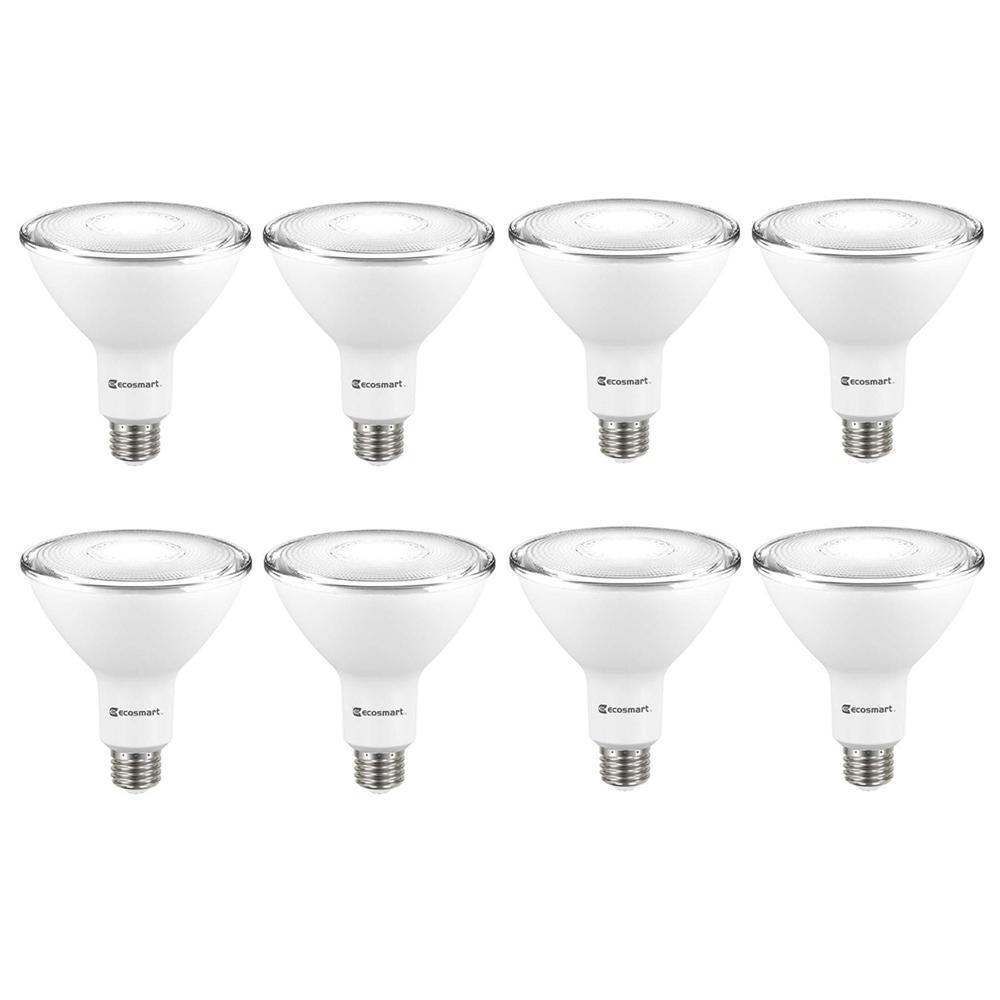ECOSMART 120-Watt Equivalent PAR38 Dimmable ENERGY STAR Flood LED Light Bulb Daylight (8-Pack)