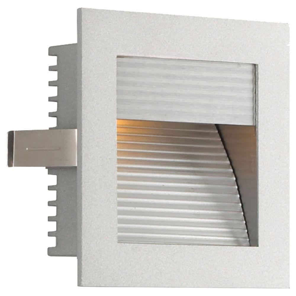 Spectra 1-Light Outdoor Metallic Grey Step Light