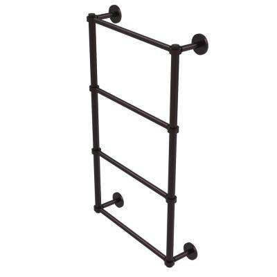 Prestige Skyline Collection 4-Tier 36 in. Ladder Towel Bar in Antique Bronze