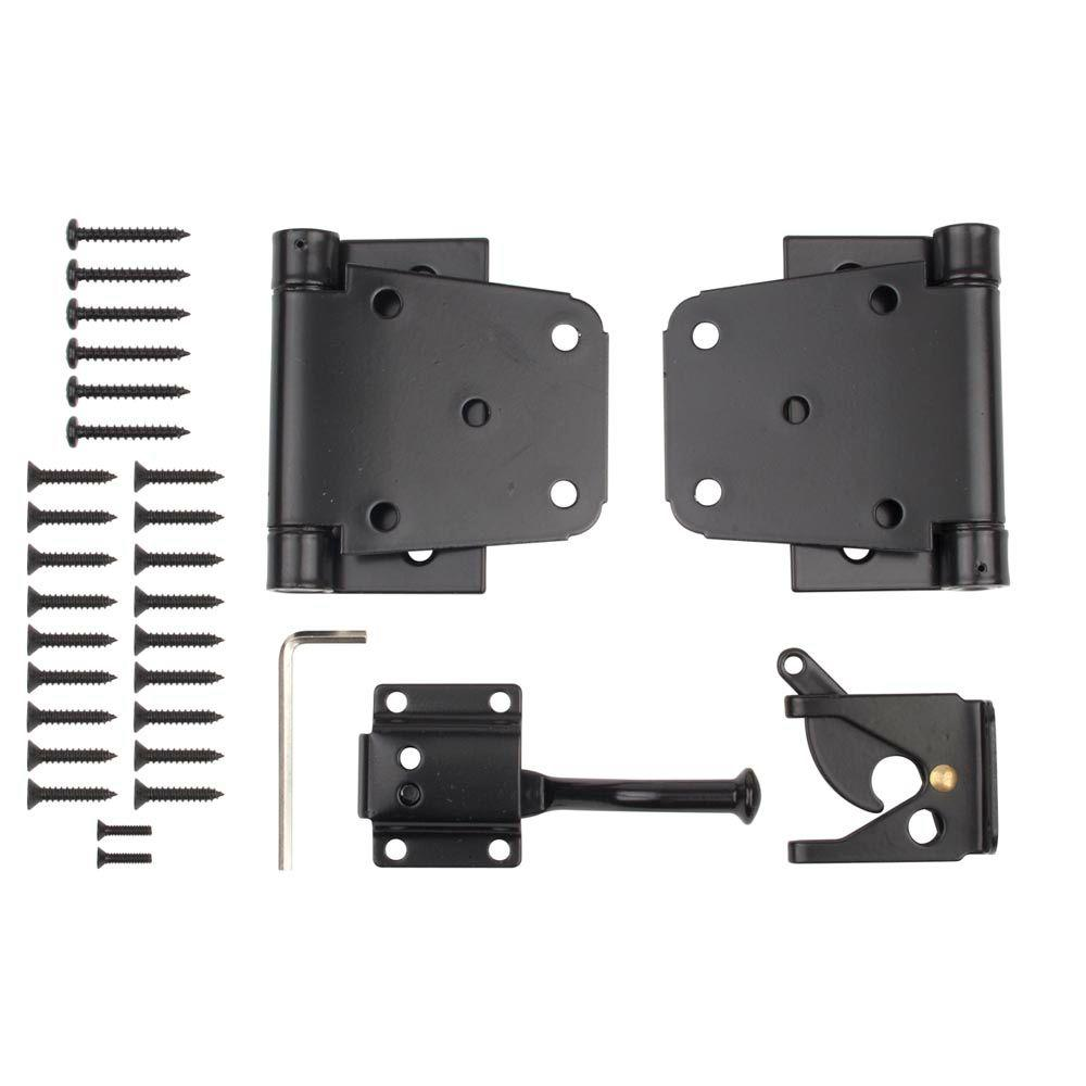 Everbilt Black Self Closing Gate Kit 13534 The Home Depot