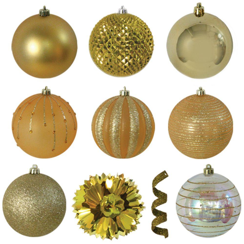Variety Gold Ornament Pack (40-Count)-70-687-00 - The Home Depot