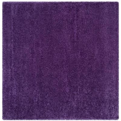Milan Shag Purple 5 ft. x 5 ft. Square Area Rug