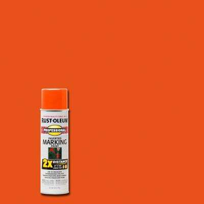 15 oz. Fluorescent Red-Orange 2X Distance Inverted Marking Spray Paint