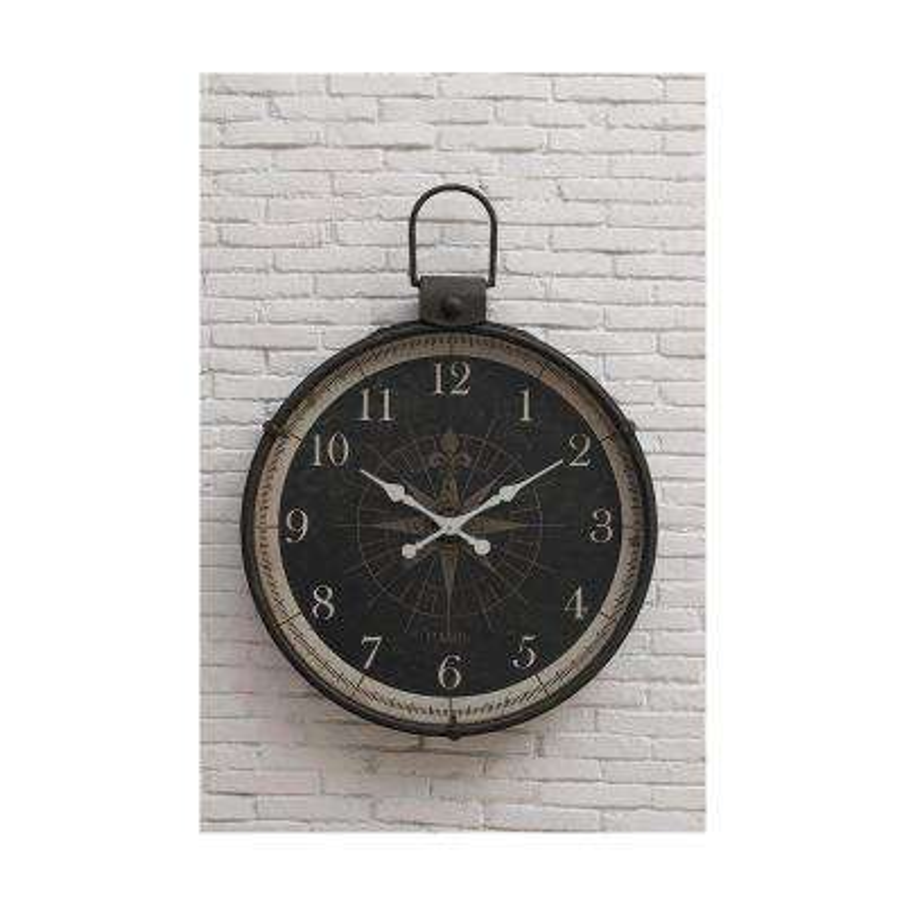 Compass Round Wall Clock