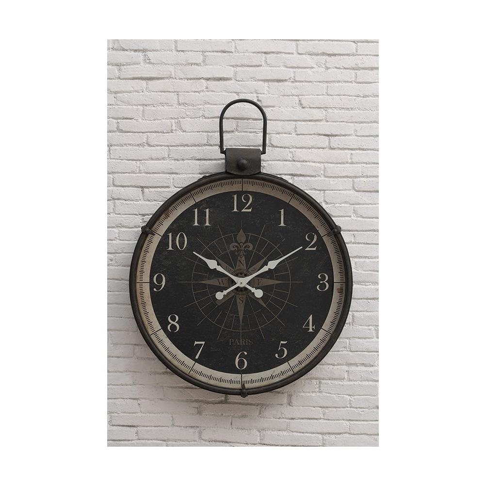 home decorators collection compass round wall clock