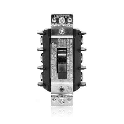 30 Amp 600 Volt Industrial Grade Three Pole Three Phase AC Manual Motor Controller Toggle Switch - Black