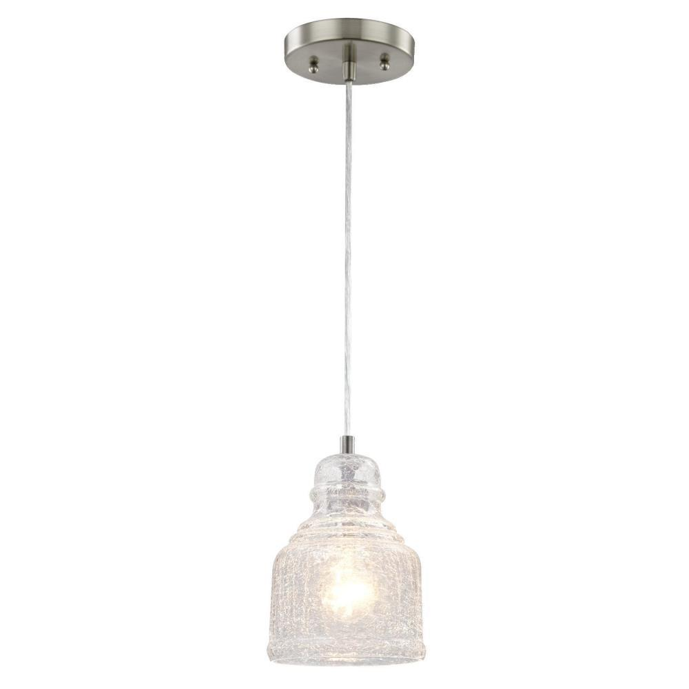 Westinghouse 1 Light Brushed Nickel Mini Pendant 6309200 The Home Depot