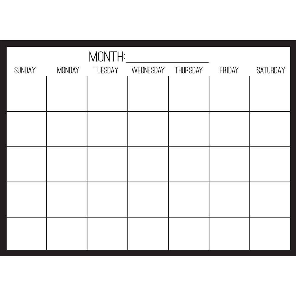 wallpops black on clear monthly calendar decal