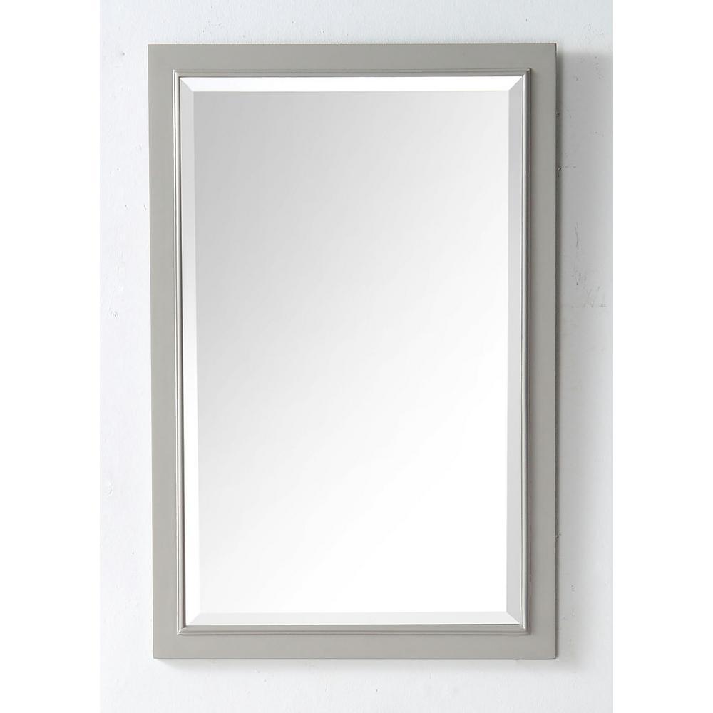 24 in. x 36 in. Framed Wall Mirror in Warm Gray