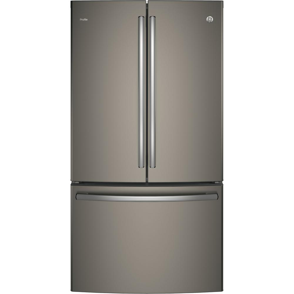 35.75 in. W 23.1 cu. ft. French Door Refrigerator in Slate,