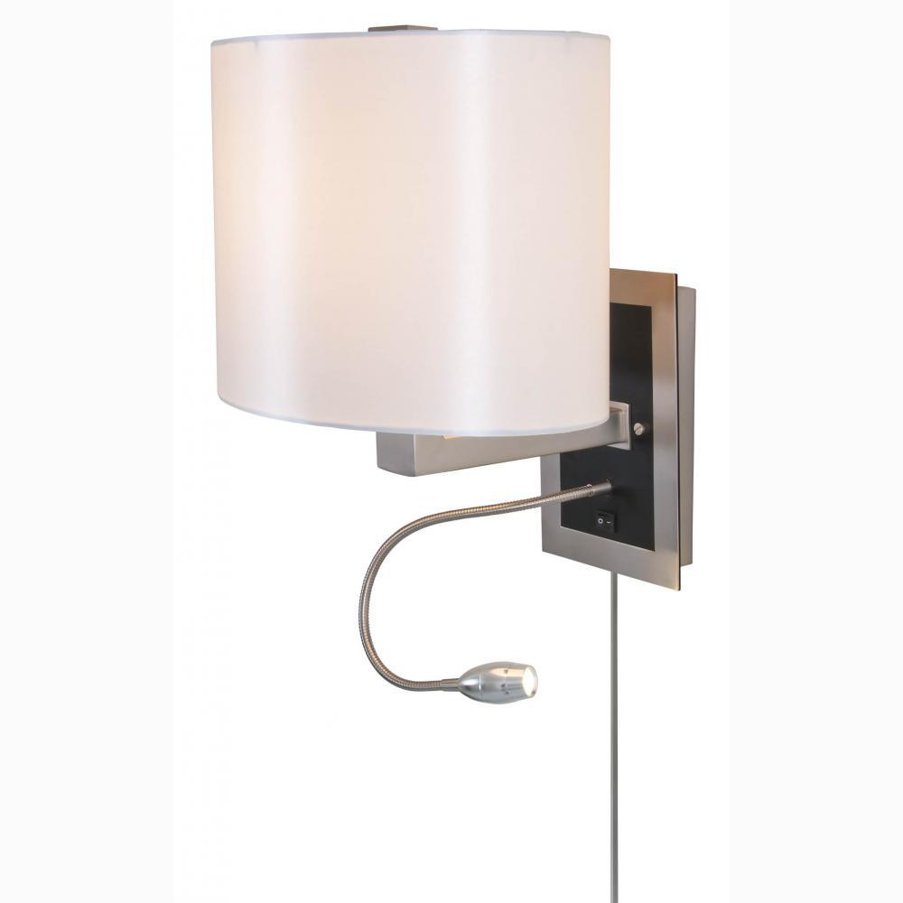 Anne 1-Light Buffed Nickel Sconce