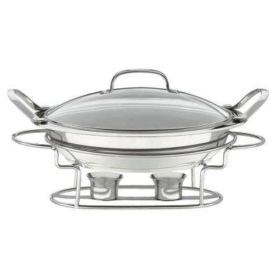 Classic Entertaining 11 in. (3 Qt.) Stainless Round Buffet Server