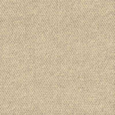 Inspirations Ivory Ribbed Texture 18 in. x 18 in. Carpet Tile (16 Tiles/36 sq. ft. /case)