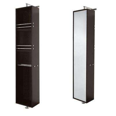 Claire 13-3/4 in. W x 73 in. H  x 14-1/2 in. D Bathroom Linen Storage Tower in Espresso