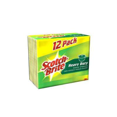 Scotch-Brite 2.7 in. x 4.5 in. Heavy Duty Scrub Sponge (12-Pack)