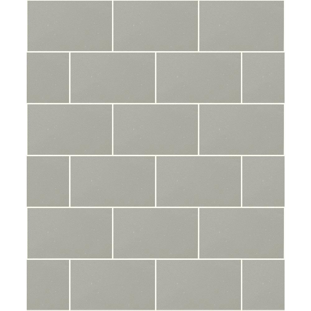 56.4 sq. ft. Joan Taupe Tile Wallpaper