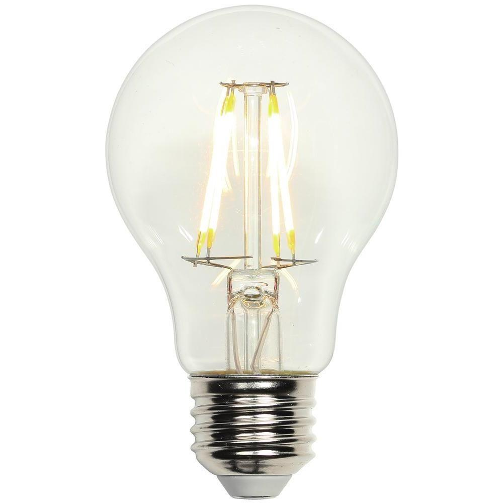 40w Equivalent Soft White Vintage Filament A19 Dimmable: Westinghouse 40W Equivalent Bright White Omni A19 LED
